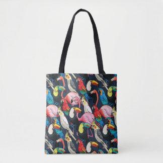 Exotic birds tote bag