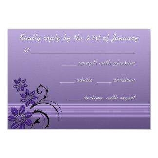 Exotic Blooms Lavender Response Card