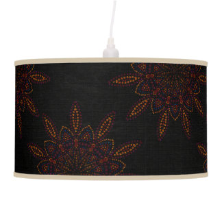 Exotic Blooms Patterned Ceiling Lamps