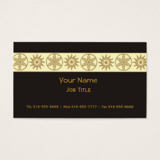 Exotic Business Cards Gold