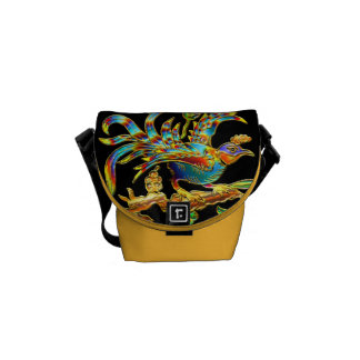 Exotic Cloisonné Bird Bag Commuter Bag