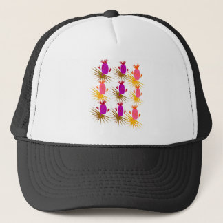 Exotic design ananases Pink Orange Trucker Hat