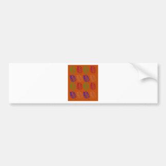 Exotic design leaves eco brown bumper sticker