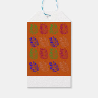 Exotic design leaves eco brown gift tags