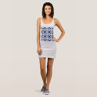 Exotic designers dress grey with blue