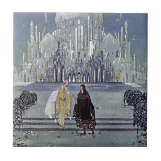 Exotic Fairy Tale Prince and Princess Illustration Ceramic Tile