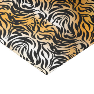 Exotic Fantasy Animal Print Tiger and Zebra Tissue Paper