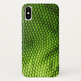 Exotic Faux Iquana Scales Green Animal Print iPhone X Case