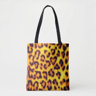 Exotic Faux Leopard Spots Animal Print Tote Bag