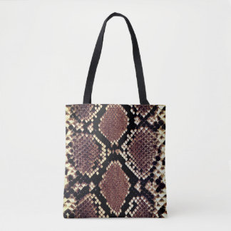 Exotic Faux Snake Skin Animal Print Tote Bag