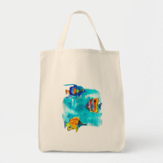 Exotic fish tote bag