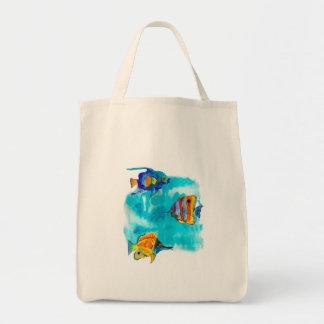 Exotic fish tote bag