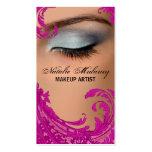 Exotic Floral Makeup Artist Business Card