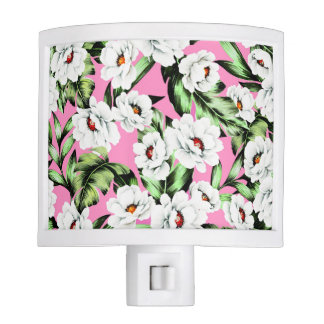 Exotic Flower Floral Pattern Night Light