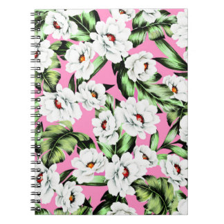 Exotic Flower Floral Pattern Notebooks