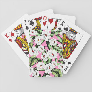 Exotic Flower Floral Pattern Playing Cards
