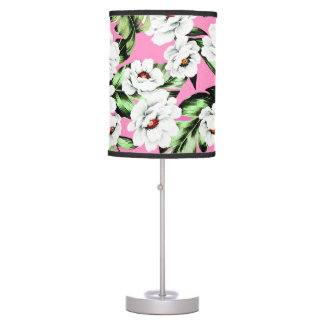 Exotic Flower Floral Pattern Table Lamp
