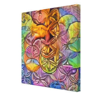 Exotic Flower of Life Canvas Print
