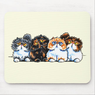 Exotic Foursome Cats Mouse Pad