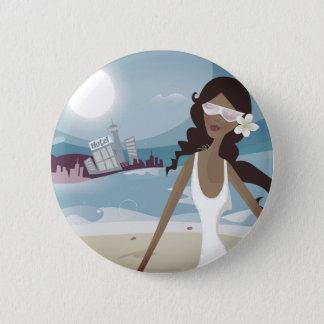 Exotic girl original button