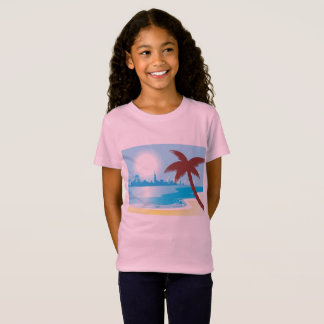 Exotic girls pink tshirt