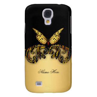 Exotic Gold Black Butterfly