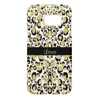 Exotic Golden Leopard Personalized Animal Print Samsung Galaxy S7 Case