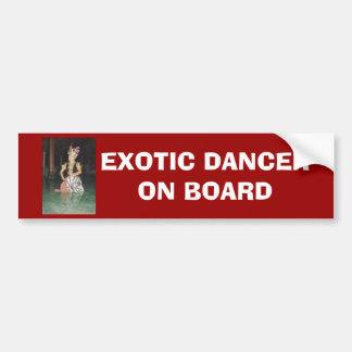Exotic Golek dancer from Indonesian Bumper Sticker