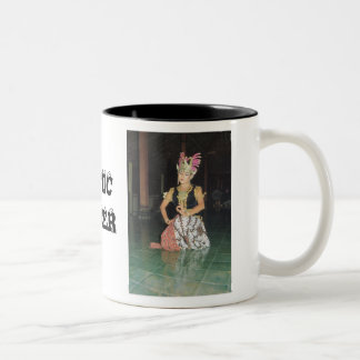 Exotic Golek dancer from Indonesian Two-Tone Coffee Mug
