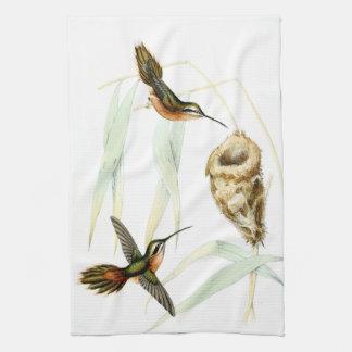 Exotic Hummingbird Birds Nest Kitchen Towels