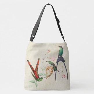 Exotic Hummingbird Birds Nest Shoulder Tote Bag