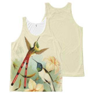Exotic Hummingbird Birds Wildlife Flowers Top
