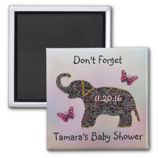 Exotic Jewel Elephant Save the Date Magnet
