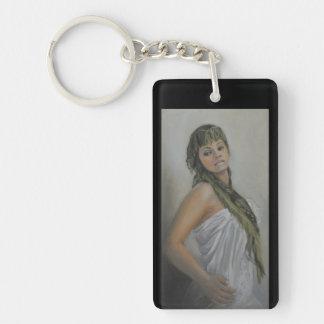 Exotic Jewel I Rectangle Keychain