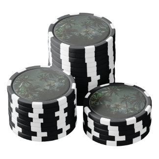 Exotic Jomalig Island Philippines at starry night Poker Chips