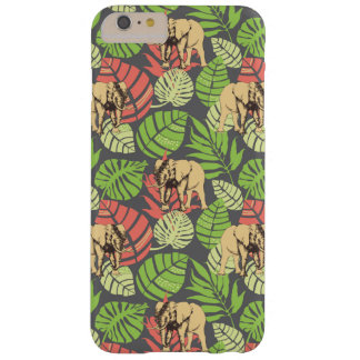 Exotic Jungle Leaves And Elephants Barely There iPhone 6 Plus Case
