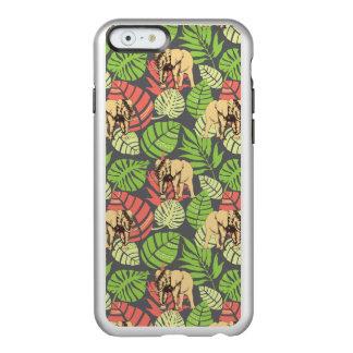 Exotic Jungle Leaves And Elephants Incipio Feather® Shine iPhone 6 Case