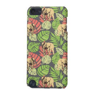 Exotic Jungle Leaves And Elephants iPod Touch 5G Case
