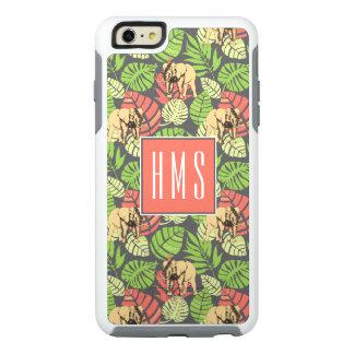 Exotic Jungle Leaves And Elephants | Monogram OtterBox iPhone 6/6s Plus Case
