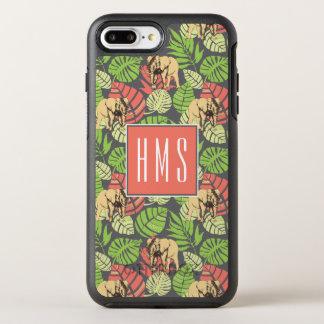 Exotic Jungle Leaves And Elephants | Monogram OtterBox Symmetry iPhone 7 Plus Case