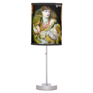 Exotic Ladies Art Collage Table Lamps