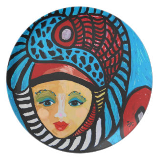 Exotic Lady Dinner Plate