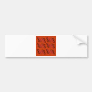 Exotic leaves brown bumper sticker