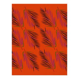 Exotic leaves brown letterhead