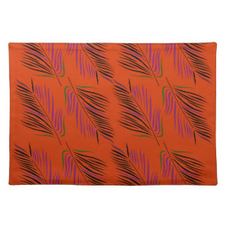 Exotic leaves brown placemat