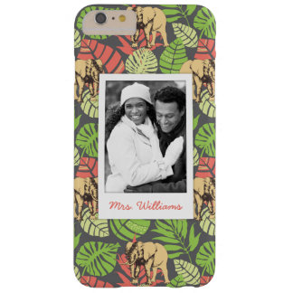 Exotic Leaves & Elephants | Add Your Photo & Name Barely There iPhone 6 Plus Case