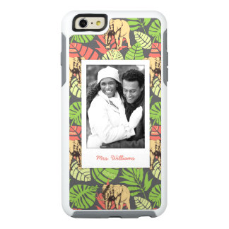 Exotic Leaves & Elephants | Add Your Photo & Name OtterBox iPhone 6/6s Plus Case