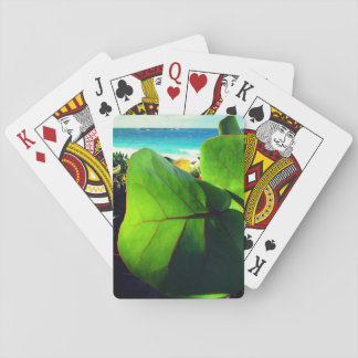 Exotic Leaves View Poker Deck