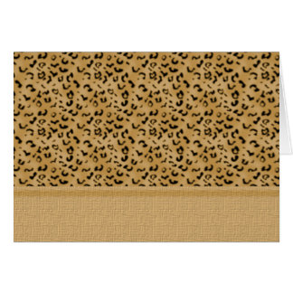 Exotic Leopard Print Card