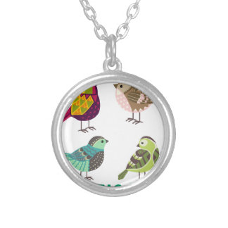 Exotic Life 2 Silver Plated Necklace